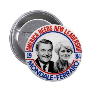 Jugate de Mondale-Ferraro - botón Pins
