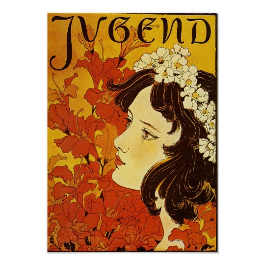 Jugend Youth Art Nouveau Poster Zazzle Com