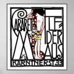 Jugendstil - Art Nouveau Poster: Cabaret Fledermas