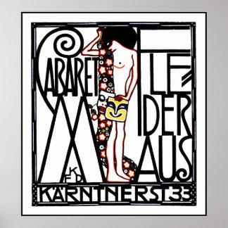 Jugendstil - Art Nouveau Poster: Cabaret Fledermas Poster