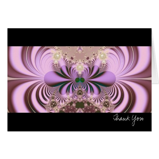 Jugendstil · Arte del fractal · Púrpura de Tarjeta De Felicitación