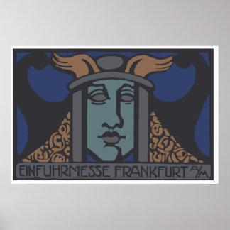 Jugendstil Einfuhrmesse 1919 Frankfurt Am Main Poster