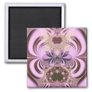 Jugendstil · Fractal Art · Palatinate Purple 2 Inch Square Magnet