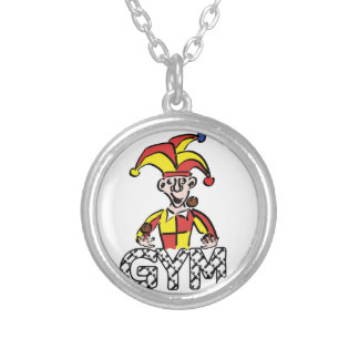 Juggle Gym Silver Plated Necklace