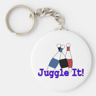 Juggle It Juggler Basic Round Button Keychain