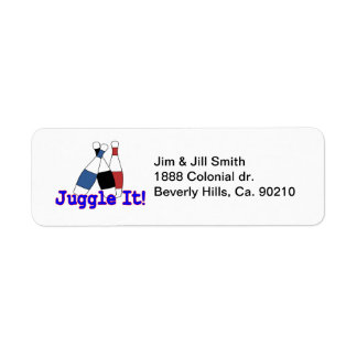 Juggle It Juggler Custom Return Address Label