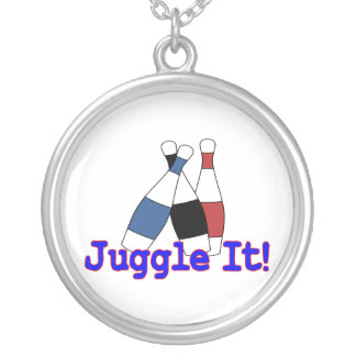 Juggle It Juggler Silver Plated Necklace