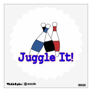 Juggle It Juggler Wall Decal