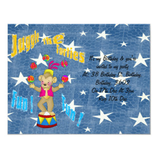 Juggle The Forties 4.25x5.5 Paper Invitation Card