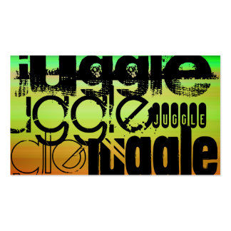 Juggle; Vibrant Green, Orange, & Yellow Double-Sided Standard Business Cards (Pack Of 100)