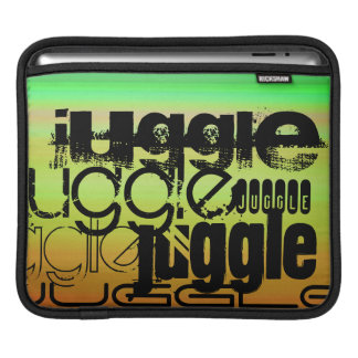 Juggle; Vibrant Green, Orange, & Yellow iPad Sleeves