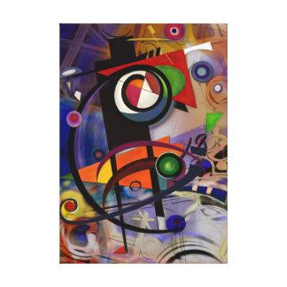 juggler of colors canvas print