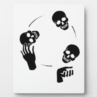 Juggler Skeleton Fun Circus Plaque