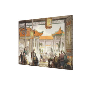 Jugglers Exhibiting in the Court of a Mandarin's P Canvas Print