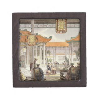 Jugglers Exhibiting in the Court of a Mandarin's P Premium Gift Boxes