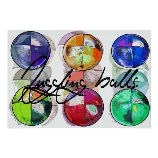 JUGGLING BALLS POSTERS