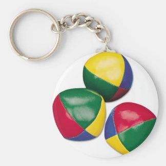 juggling-bean-balls basic round button keychain