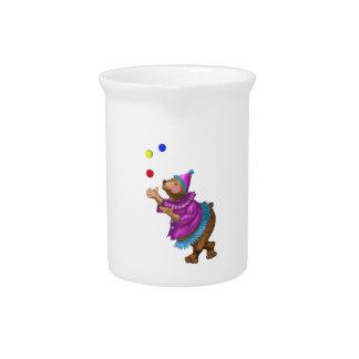 Juggling Bear Drink Pitcher