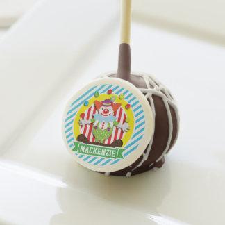 Juggling Big Top Circus Clown; Blue Stripes Cake Pops