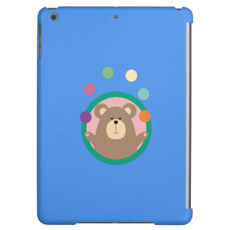 Juggling Brown Bear in circle Q1Q Cover For iPad Air