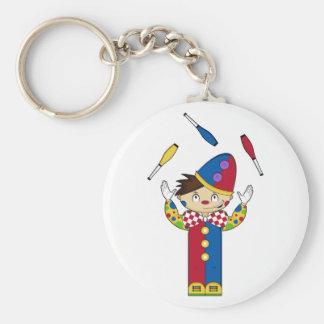 Juggling Circus Clown Keychain