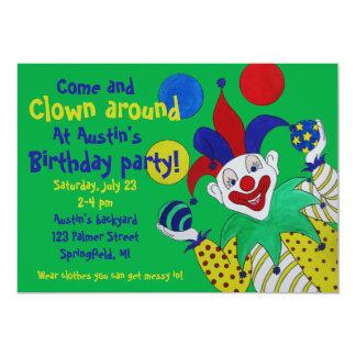 Juggling Clown Birthday Invite