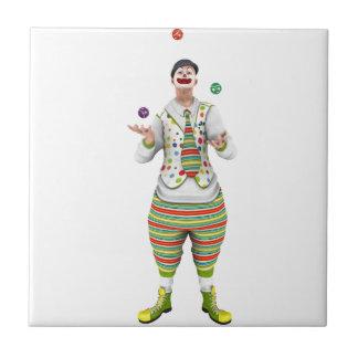 Juggling Clown Ceramic Tile