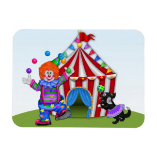 Juggling Clown, Circus Tent Magnet