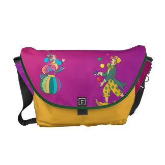 Juggling Clown Courier Bag