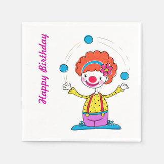 Juggling Clown Party Napkins