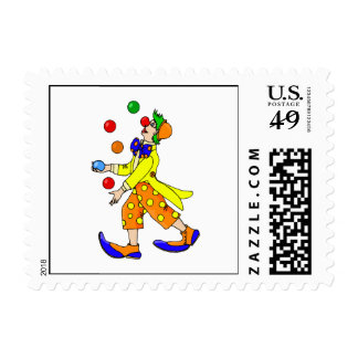 Juggling Clown Stamp
