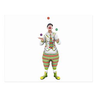 Juggling Clown Postcard