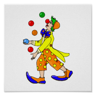 Juggling Clown Poster