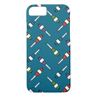 Juggling Club Toss Blue iPhone 8/7 Case