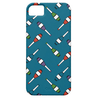 Juggling Club Toss Blue iPhone SE/5/5s Case