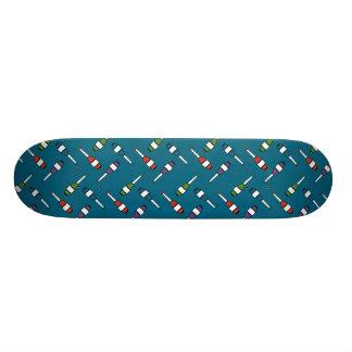Juggling Club Toss Blue Skateboard Deck