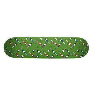 Juggling Club Toss Green Skateboard Deck