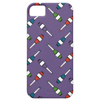 Juggling Club Toss Purple iPhone SE/5/5s Case
