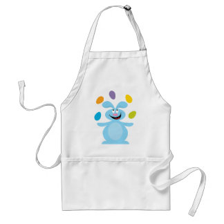 Juggling Easter Bunny Adult Apron