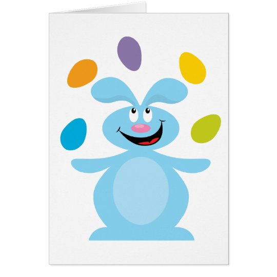 Juggling Easter Bunny Card