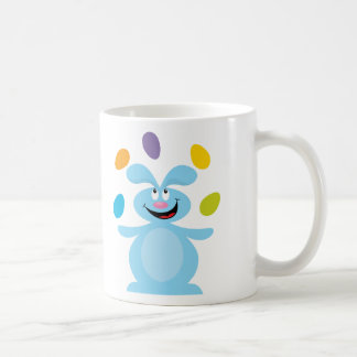 Juggling Easter Bunny Classic White Coffee Mug