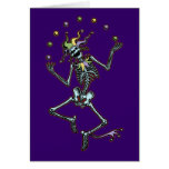 Juggling Jester Skeleton Greeting Card
