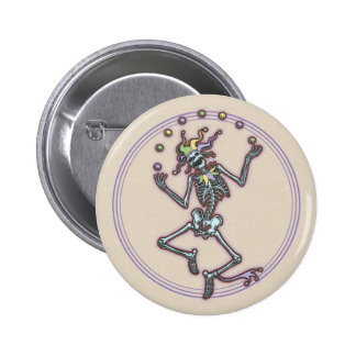 Juggling Jester Skeleton II Pinback Button
