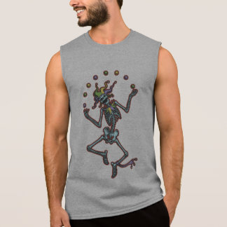 Juggling Jester Skeleton II Sleeveless Tee