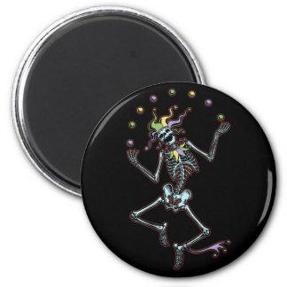 Juggling Jester Skeleton Magnet
