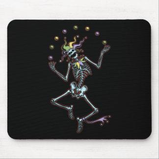 Juggling Jester Skeleton Mouse Pad