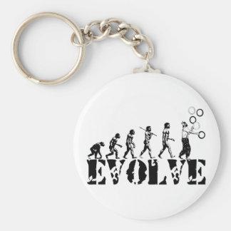 Juggling Juggler Juggle Evolution Sports Art Basic Round Button Keychain