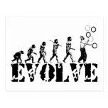 Juggling Juggler Juggle Evolution Sports Art Postcard