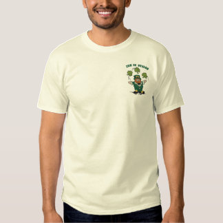 Juggling Leprechaun Embroidered T-Shirt