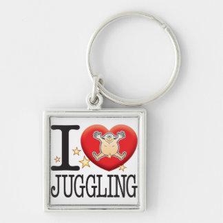 Juggling Love Man Keychain